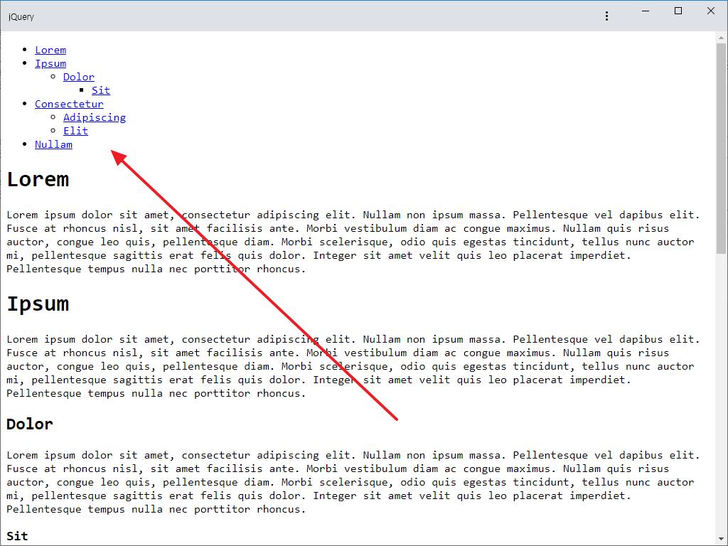 jQuery / Plugin / jquery.toc / H 태그로 목차 만드는 플러그인